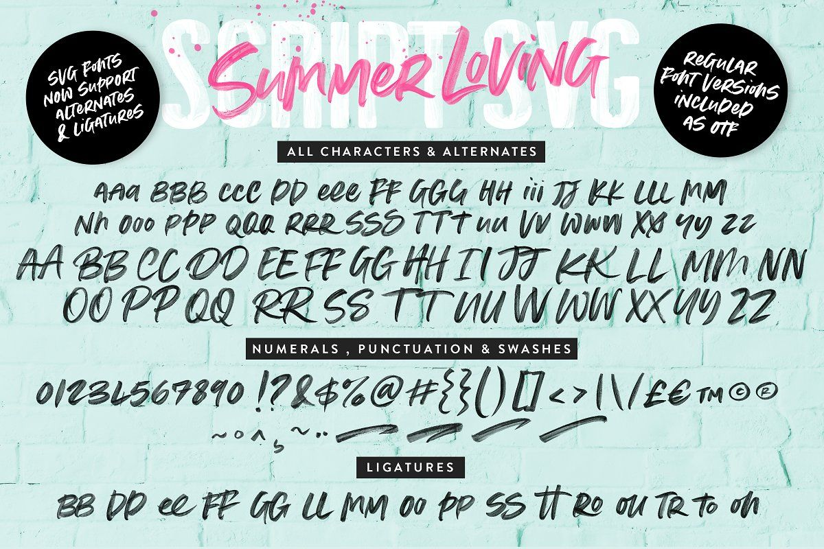 Summer Loving Font Collection ~ Display Fonts ~ Creative
