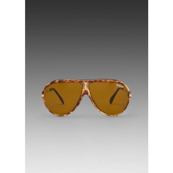 REPLAY Alas Aviator Sunglasses ($40) ❤ liked on Polyvore