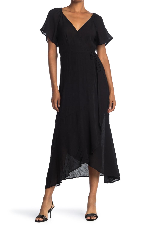 Lush Flutter Sleeve Wrap Maxi Dress Nordstrom Rack In 2020 Black Dress With Sleeves Maxi Dress Maxi Wrap Dress [ 1500 x 1000 Pixel ]