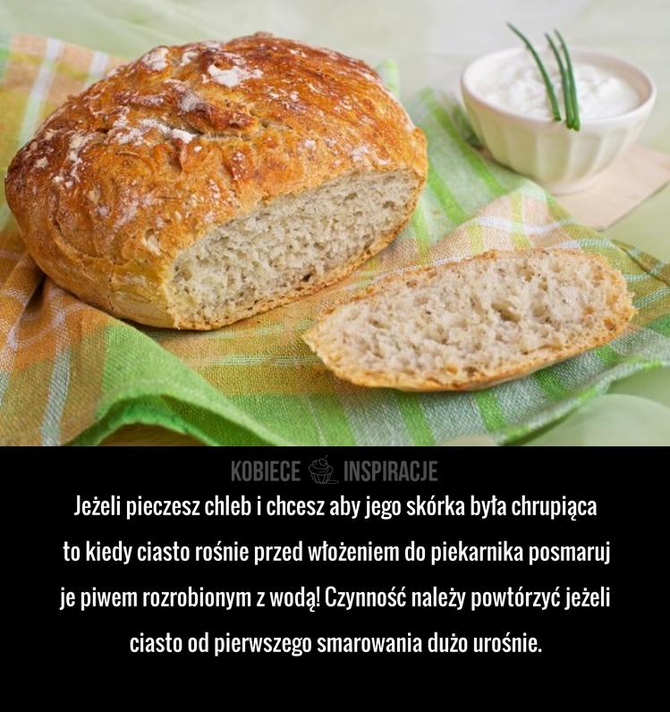 Świetny sposób na chrupiącą skórkę chleba!