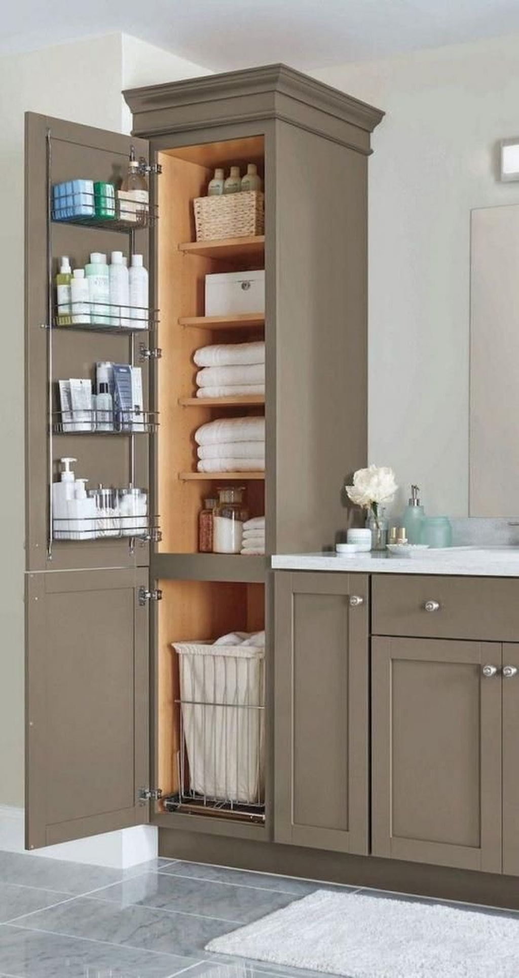 34 Amazing Modern Bathroom Storage Ideas You Must Have In 2020 Funky Bathroom Small Master Bathroom Bathroom Interior