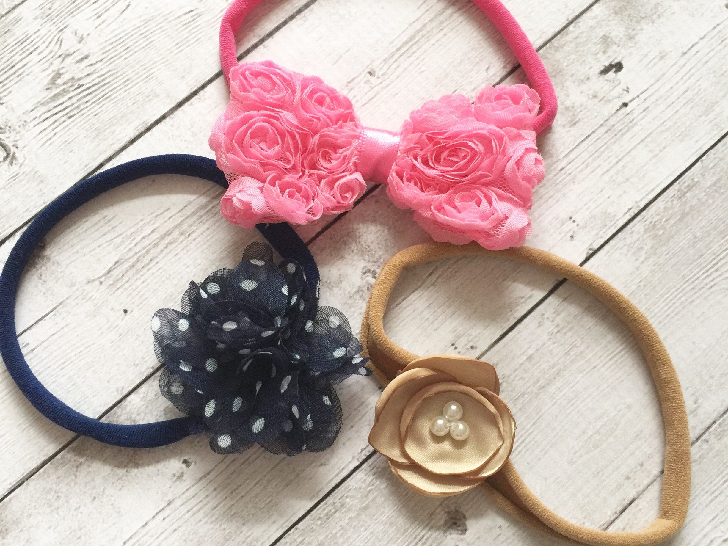 Nylon Baby Headband Set  3f9654b5182