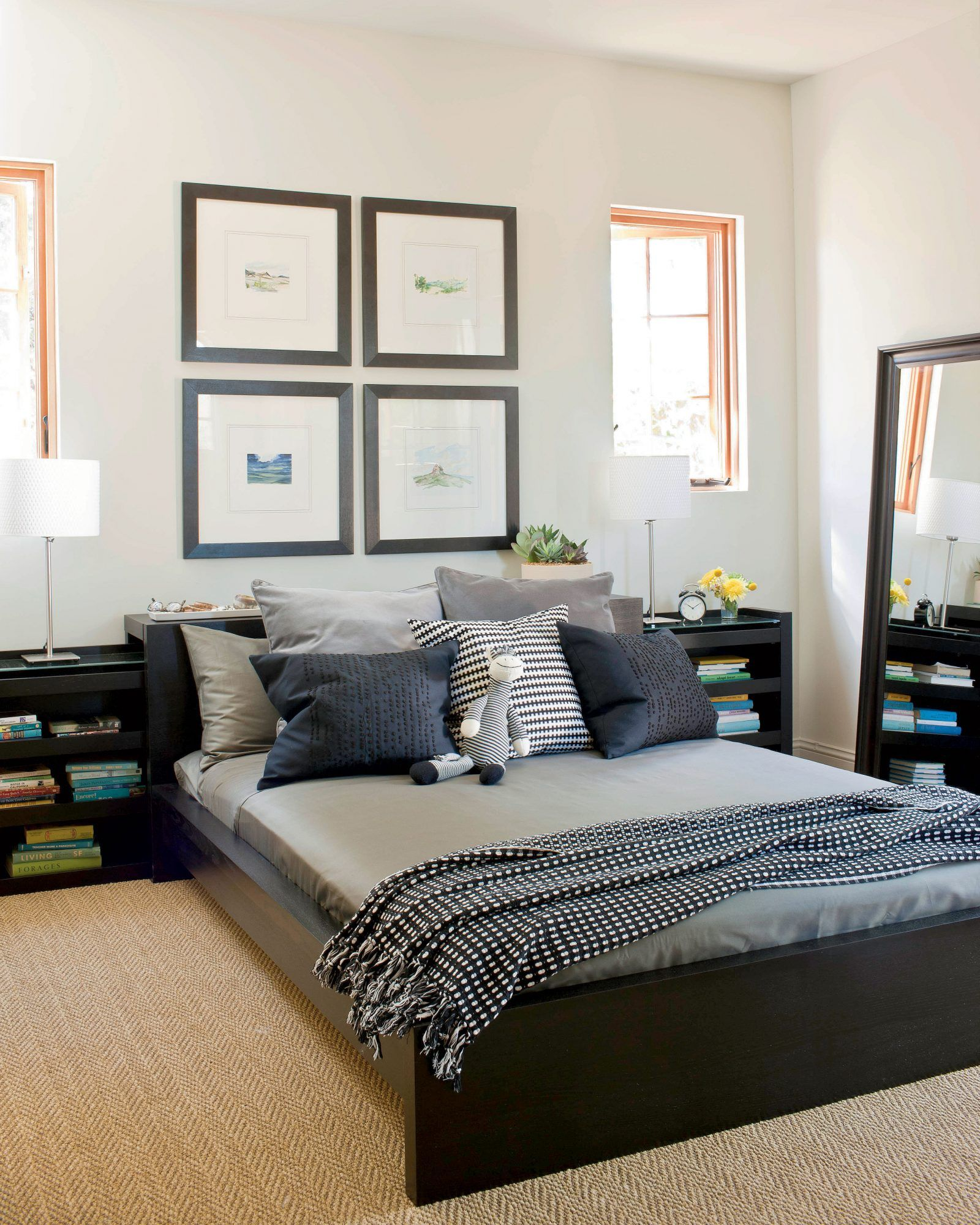 Gracious Guest Bedroom Decorating Ideas: Small Guest Bedroom, White Guest Bedroom, Guest Bedroom Decor