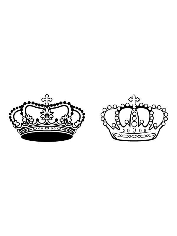 King And Queen Vinyl Decal Crowns For Bed By Anchordecalco 3150