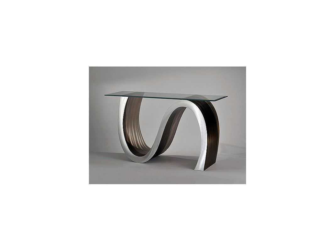 Nova Lighting Meandering Console Table Jon Gilmore Design Modern 50 Wide Meande Root Beer Furniture