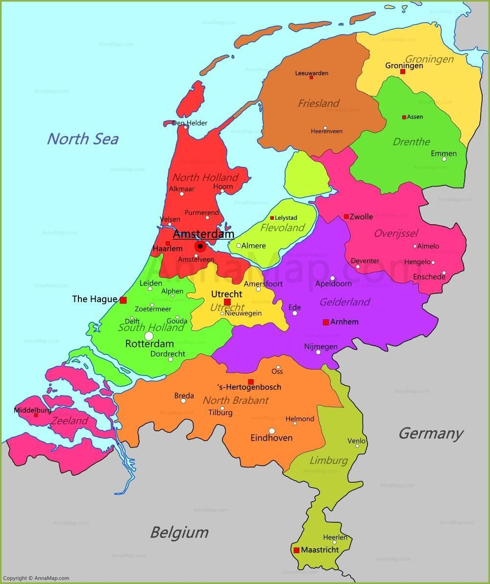 Map Of The Netherlands In The Middle Reclamed Land That Became