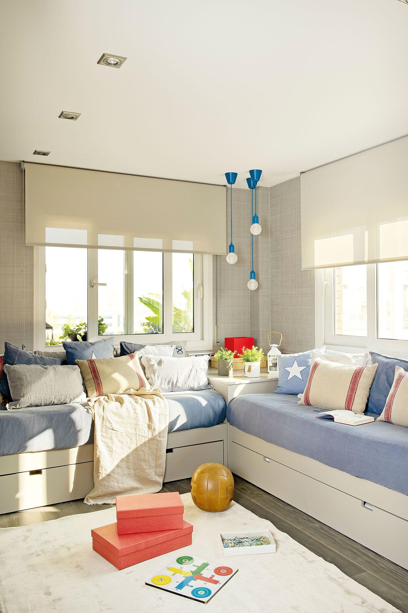 Donde caben dos caben tres kidsroom and decoration en - Habitaciones con tres camas ...
