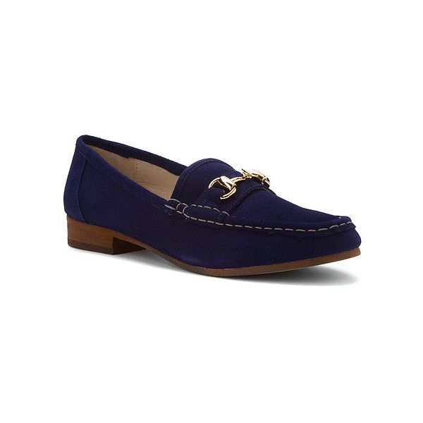 Steven by Steve Madden Surrey Loafers ($23) ❤ liked on Polyvore featuring shoes, loafers, navy suede, steven by steve madden shoes, loafer shoes, slipon shoes, slip-on shoes и navy shoes