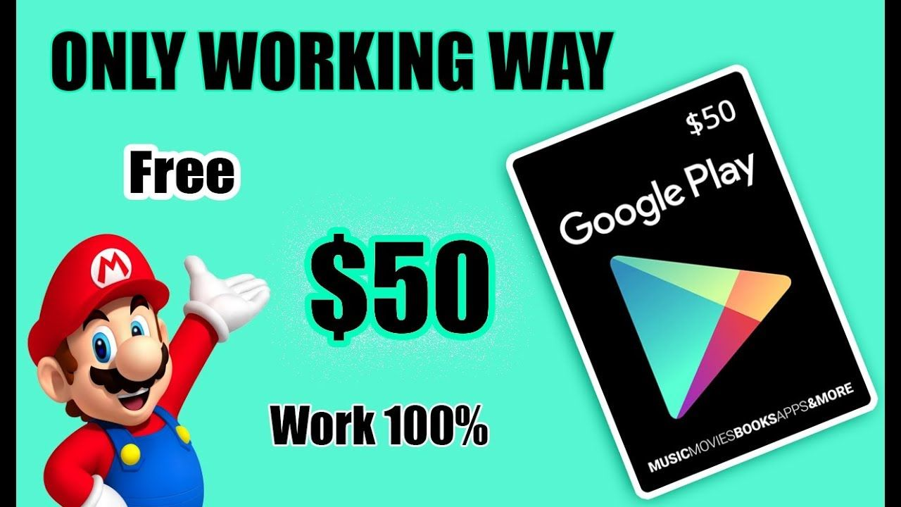 Get Free Redeem Code For Google Play (100 REAL GET 100