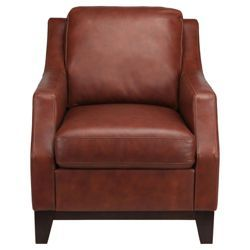Best Check Out Porto Leather Accent Chair Cognac From Tesco 640 x 480