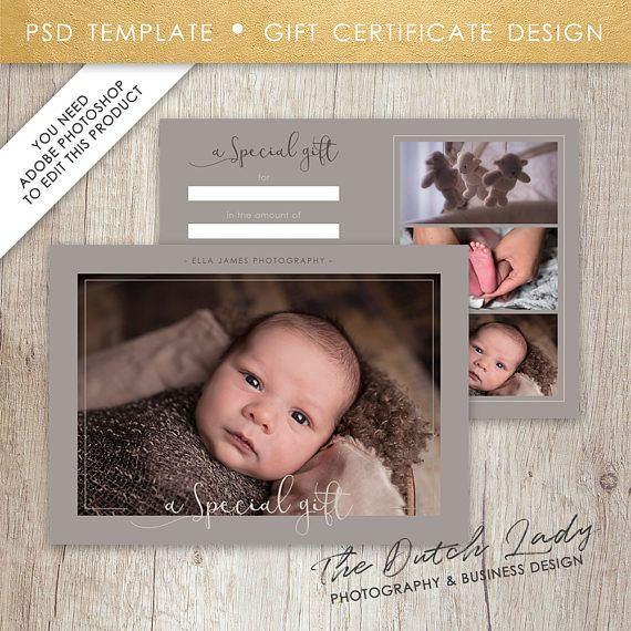 Photography Gift Certificate Template Design 20 INSTANT - certificate template software