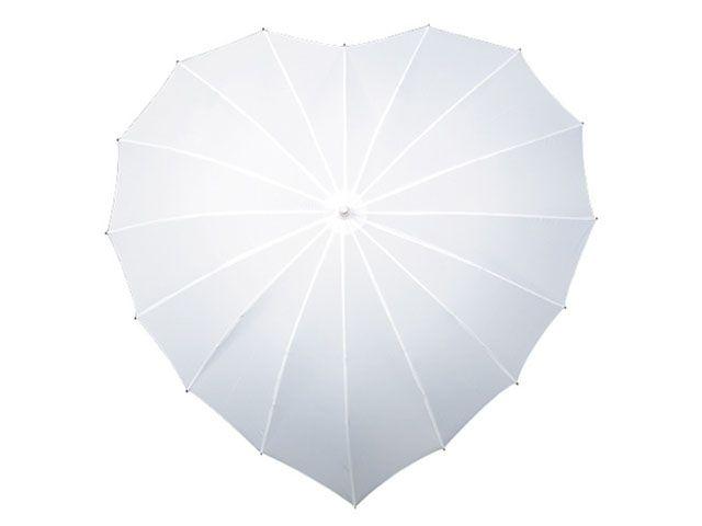 Lekker+hjerteparaply+i+hvit.+Lett+og+vindsikker.+Laget+av+polyester+og+beskytter+fra+både+regn+og+sol.+Manuel+åpning+og+matchende+håndtak.    GRATIS+FRAKT!