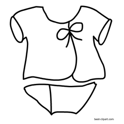 Black And White Dress Clipart Free Baby Stuff Free Baby Shower Baby Shower Themes