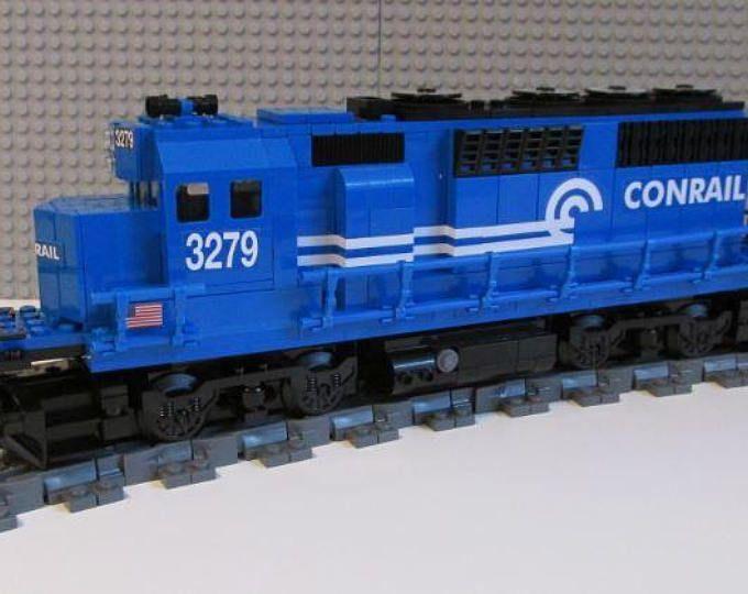 Custom Lego Conrail Gp40 Train Instructions No Bricks Included Ad