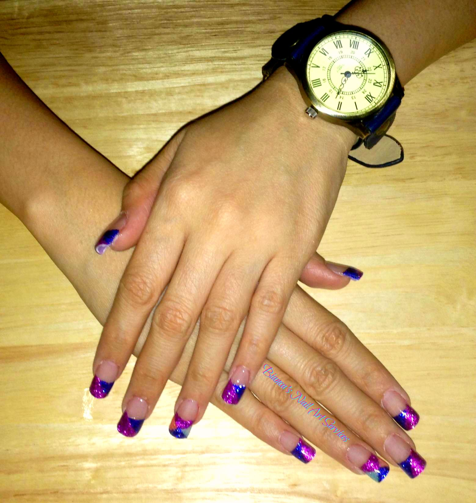 Acrylic Nails For Ms Chelly In Cebu City Glitter Acrylic Nails Using Nail Tips Nail Tip Design Diagonal Dua Nail Tip Designs Acrylic Nails Nail Designs
