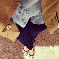 Current Habits, J.Crew flats, J Brand Jeans, O'Neill denim button-up