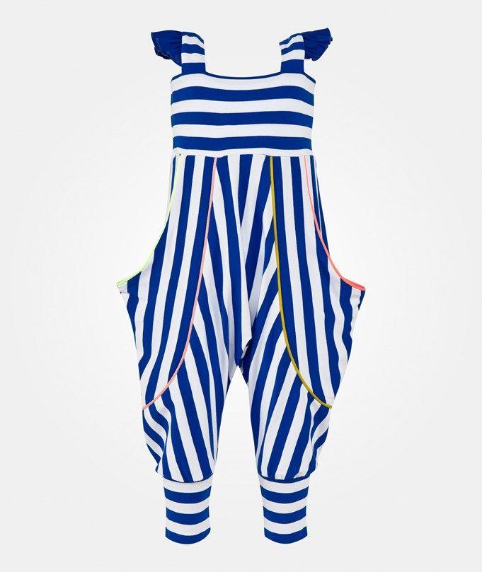 BANG BANG Copenhagen Fallula Jumpsuit Raidallinen White & blue striped