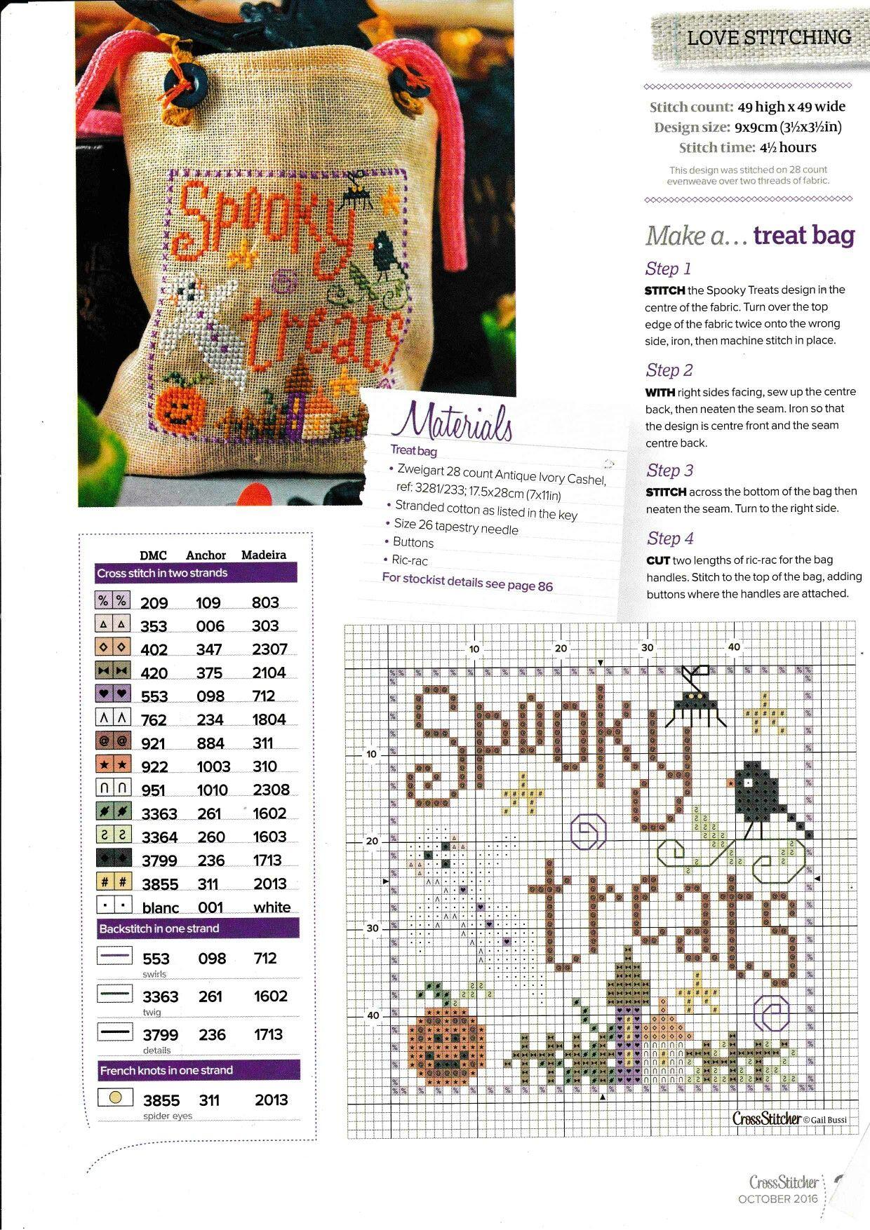 Pin by Linda Diedrich on Halloween | Pinterest | Punto de cruz ...