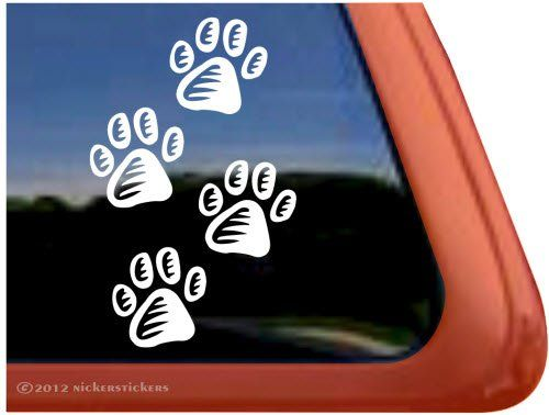 Amazoncom Paw Prints Vinyl Window Decal Sticker Automotive - Vinyl window decals amazon