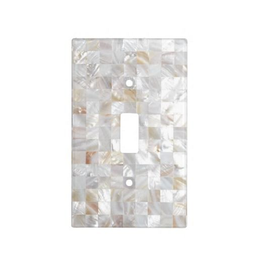 Mother Of Pearl Tile Light Switch Cover Featured At Www Zazzle Sharoncullars
