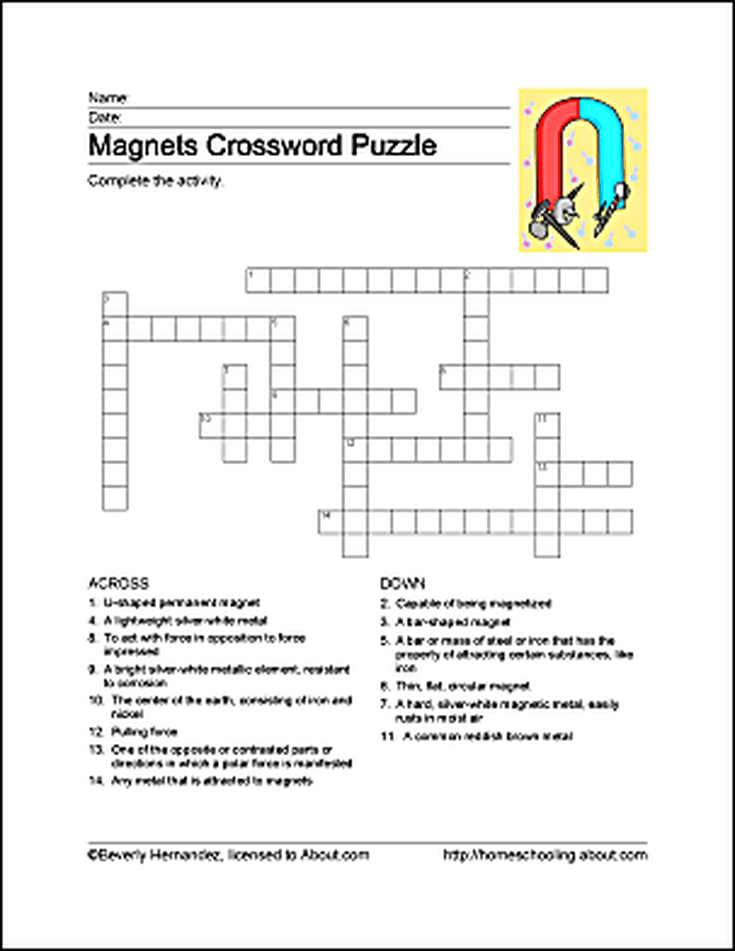 Revered image within 4th grade crossword puzzles printable
