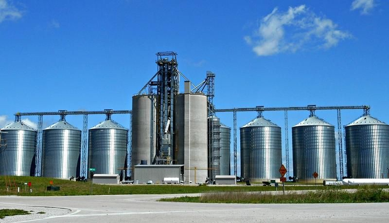Grain silos like this one are common in rural Ohio  But many