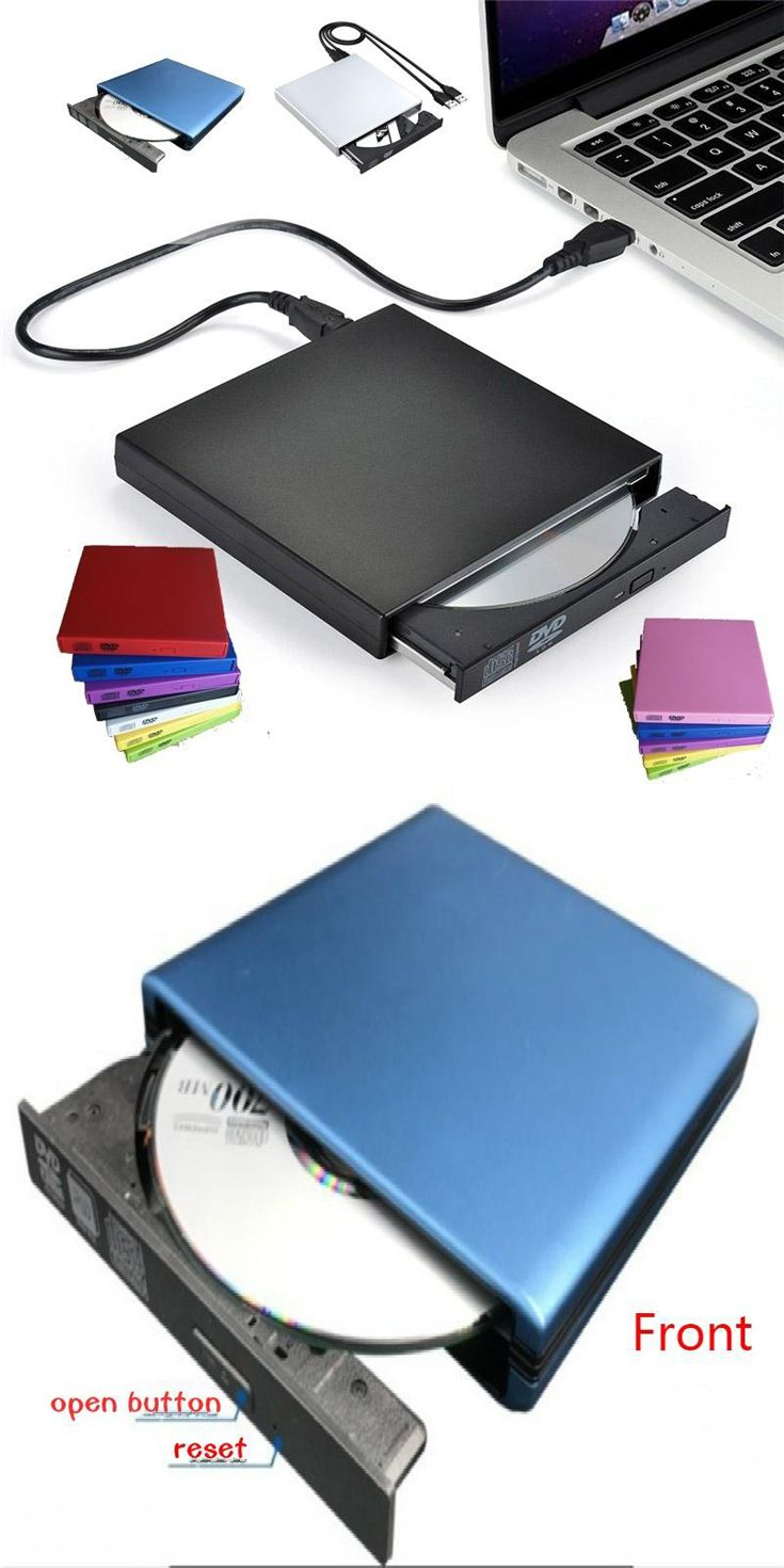 USB External #CD-RW Burner DVD/CD #Reader Player with Two USB Cables ...