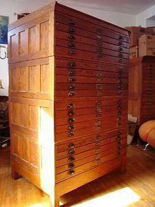Vintage industrial antique dietzgen 20 drawer wood blueprint flat vintage industrial antique dietzgen 20 drawer wood blueprint flat file cabinet malvernweather Images