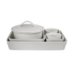 Gordon Ramsay Maze White 7 Pc Bakeware Set Bakeware At