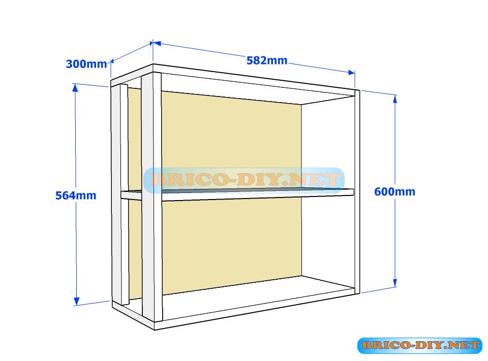 Muebles de cocina plano de alacena de melamina esquinera for Muebles de melamina