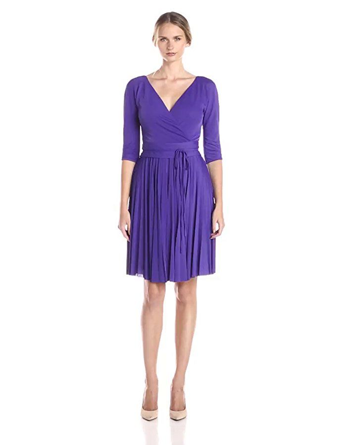 c0d99ee2a366 BCBGMAXAZRIA Womens Cruz The Mid Sleeve Dress Persian Blue SM (US 4 ...