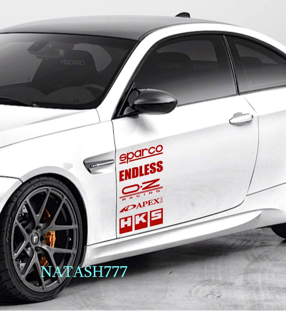 Racing sponsors toyota sport car sponsor sticker emblem logo decal red pair natash777