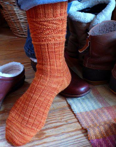 Fishbone Gansey Sock