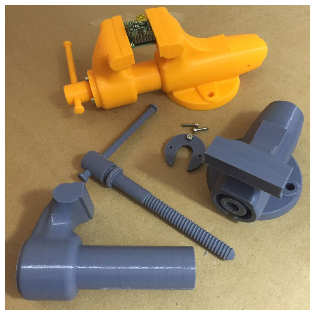 3D Printed Vise by diodepress - Thingiverse   3d Printed