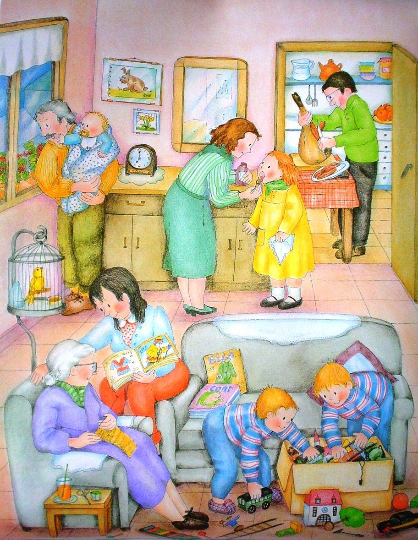 Сюжетная картинка семья кто что делает