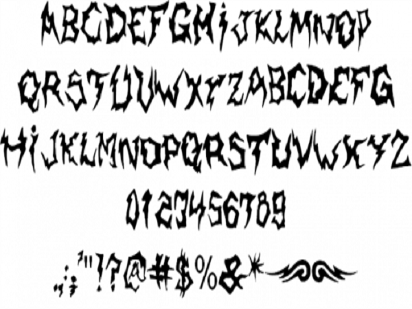 Cool Tattoo Fonts: Elegant SickCapital Kingston Tattoo Font ...
