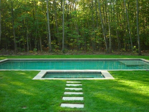 101 Bilder Von Pool Im Garten   Integriert Schwimmbecken Wald Bäume