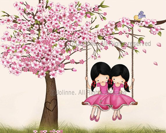 Cherry Blossom Tree Wall Art Print S Room Decor By Jolinne 16 00