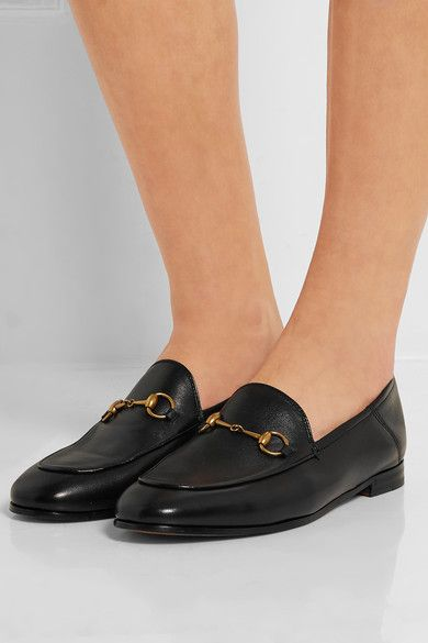 Gucci - Horsebit-detailed leather loafers