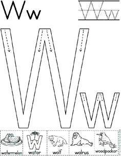 Alphabet Letter W Worksheet | Standard Block Font | Preschool Printable  Activity