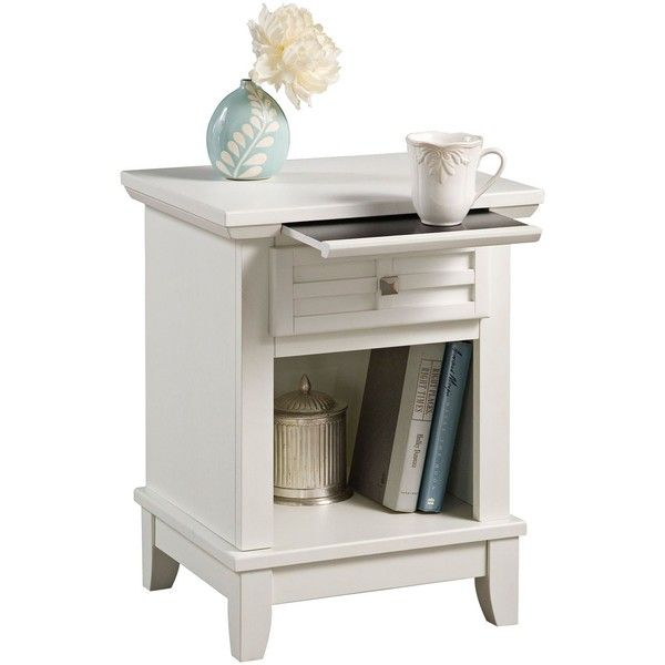 Home Styles Arts And Crafts White Lattice Pull Out Tray Night Stand ($180)