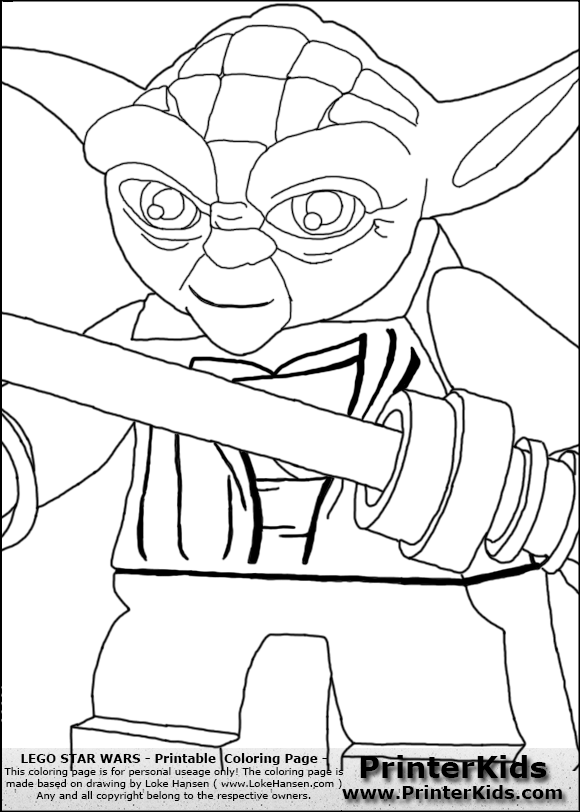 lego star wars yoda coloring pages - Google Search ...