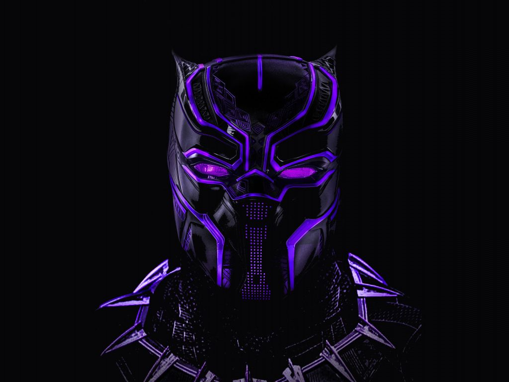 Desktop Wallpaper Black Panther Superhero Dark Glowing Mask Hd Image Picture Backgrounds 3f37b Black Panther Hd Wallpaper Black Panther Art Neon Artwork