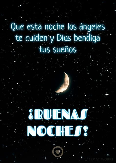 gif de luna con bonita frase de buenas noches
