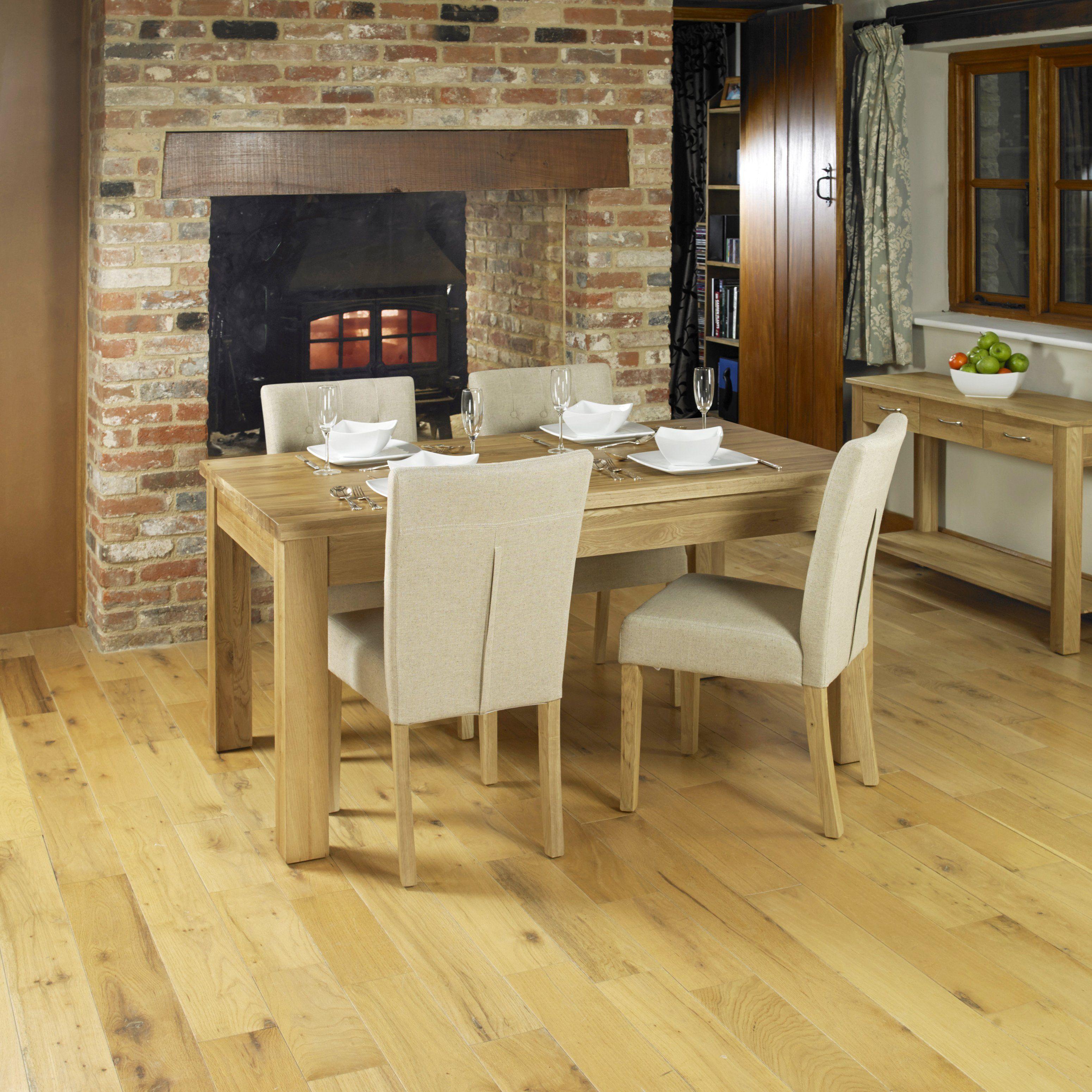 mobel extending oak dining table seats 4 8