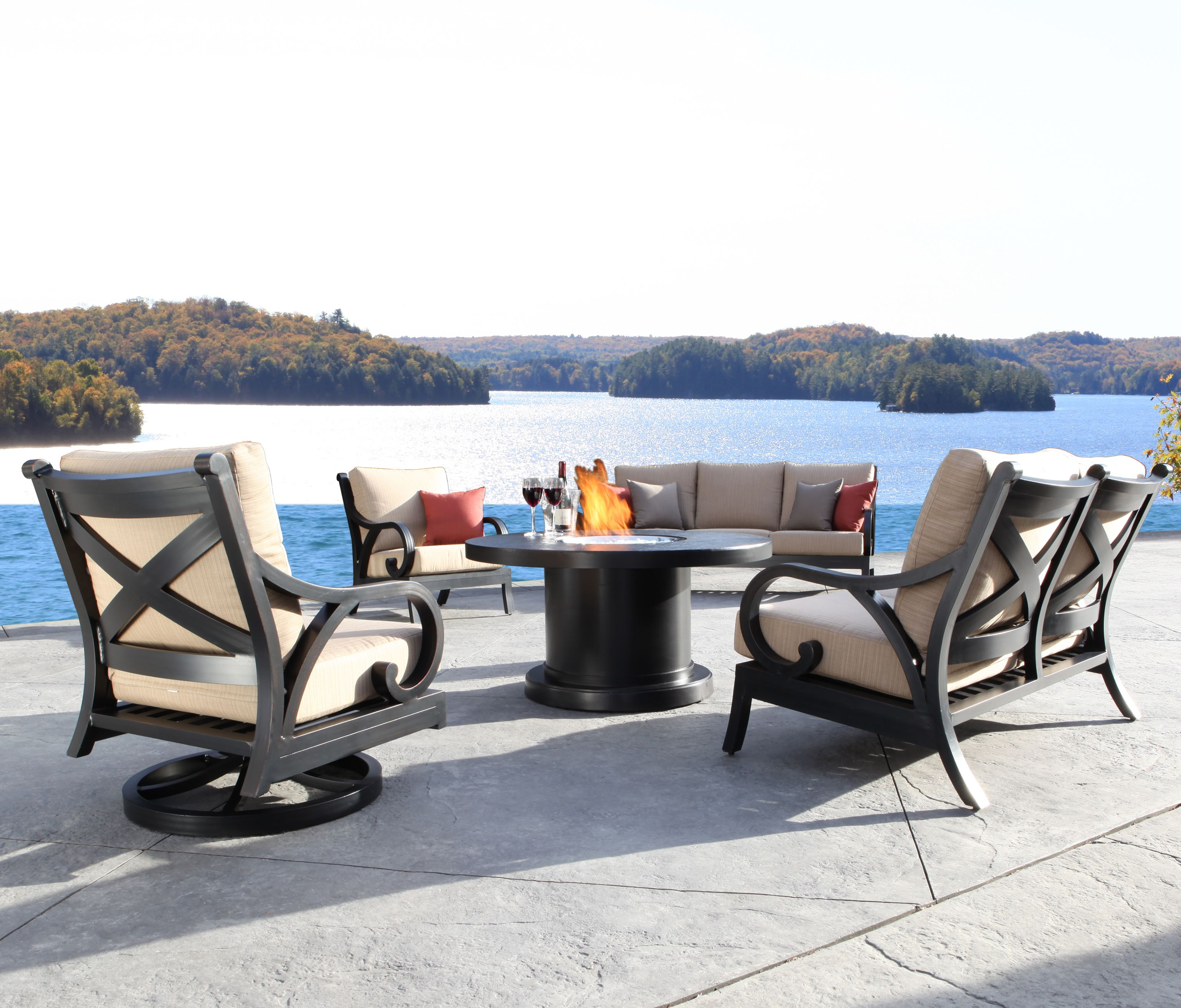 Milano Collection In Cast Aluminum Cabanacoast Patiofurniture Outdoorfurniture Patio Outdoors
