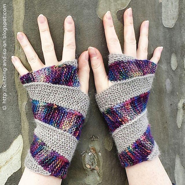 Double Helix Mitts pattern by Sybil R | örgüler | Pinterest ...