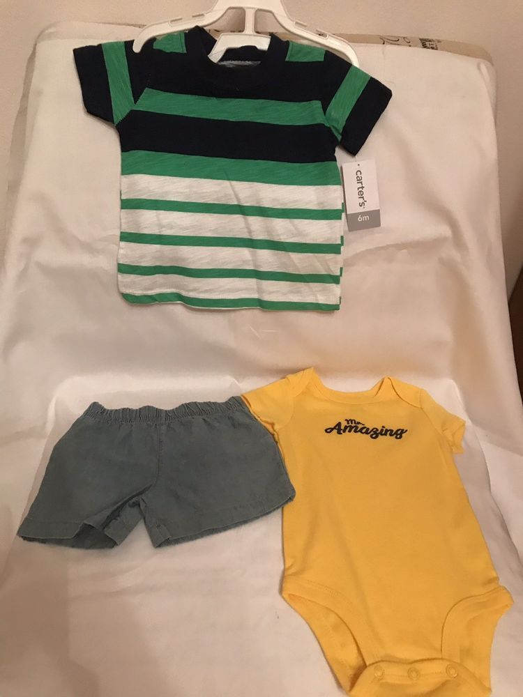 e84667747e1b Carters Baby Boy Clothes 6 Months Shirt Shorts And Bodysuit 3 Piece Set  NWT!  fashion  clothing  shoes  accessories  babytoddlerclothing ...