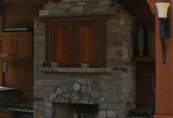 Tv Outdoor Cabinets Outdoor Fireplaces Archadeck Of Fort Worth