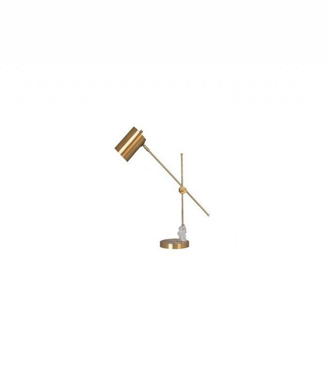 Threshold Brass Task Lamp with Cylinder Shade